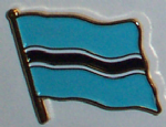 Botswana Country Flag Enamel Pin Badge